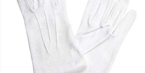 Dents Cotton White Gloves