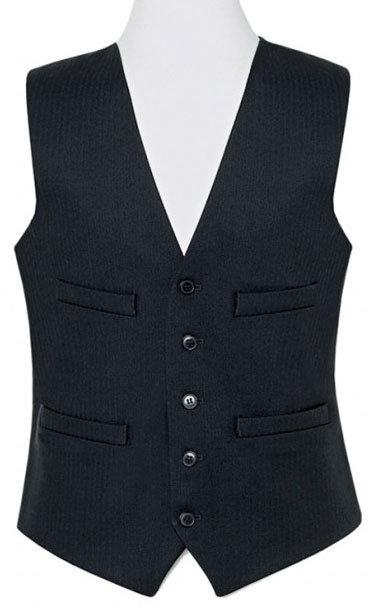 Brook Taverner Black Waistcoat