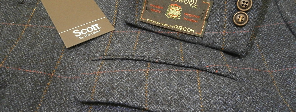 Scott Blue Herringbone Jacket