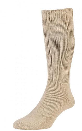 HJ1351 Diabetic Sock - Cotton - Oatmeal