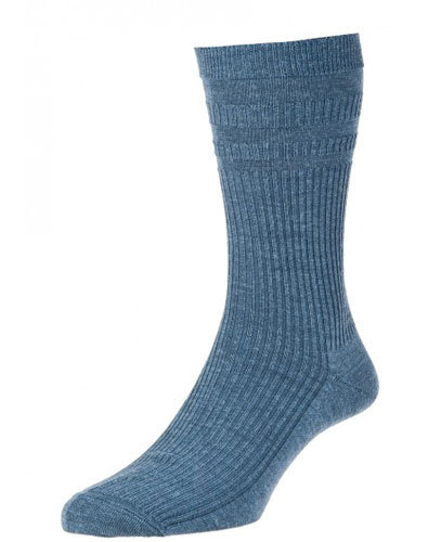 HJ90 Softop Original Wool Rich Socks China Blue