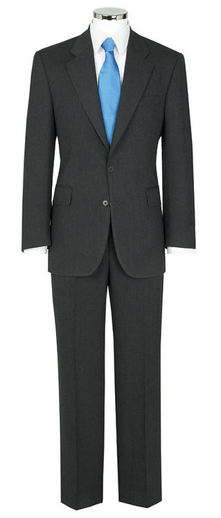 Label Charcoal Herringbone Suit Trousers