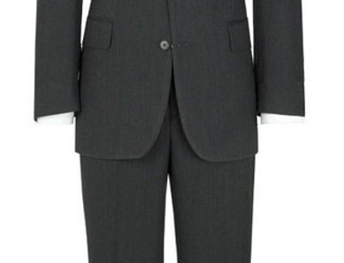 Label Charcoal Herringbone Suit Jacket