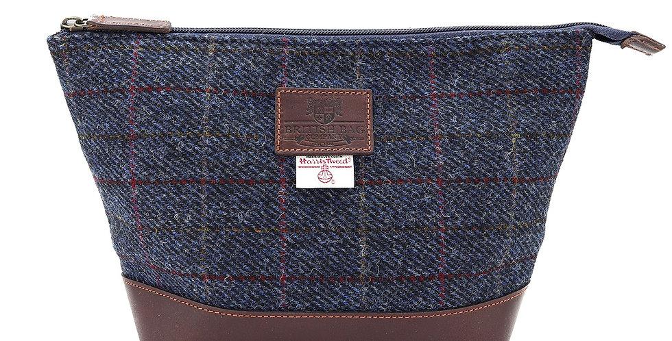 Allasdale Harris Tweed Leather Washbag
