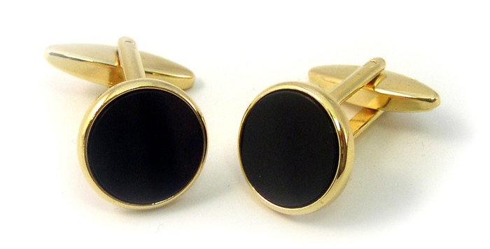 Black and Guilt Cuff Links