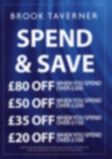 Brook Taverner spend & save offer at Halon Menswear