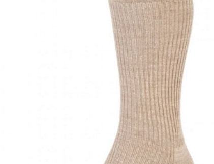 HJ98 Mid-Calf Softop Socks - Oatmeal