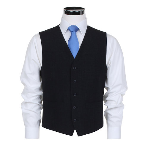 Scott Suit Waistcoat in Plain Charcoal