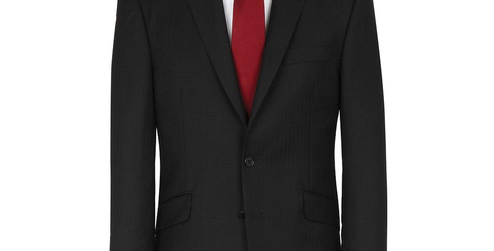 Label Navy Herringbone Suit Jacket