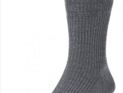 HJ190 Extra Wide Softop, Wool Rich Socks - Grey