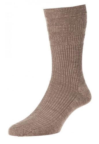 HJ90 Softop Original Wool Rich Socks Taupe
