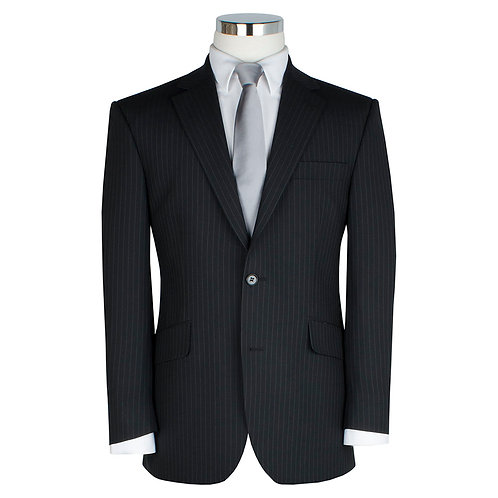 Scott Suit in Charcoal Stripe