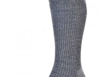 HJ98 Mid-Calf Softop Socks - Mid-grey