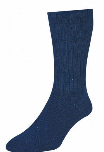 HJ95 Thermal Softop Wool Rich Socks - Navy