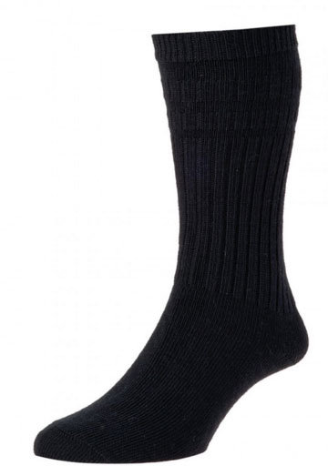 HJ95 Thermal Softop Wool Rich Socks - Black