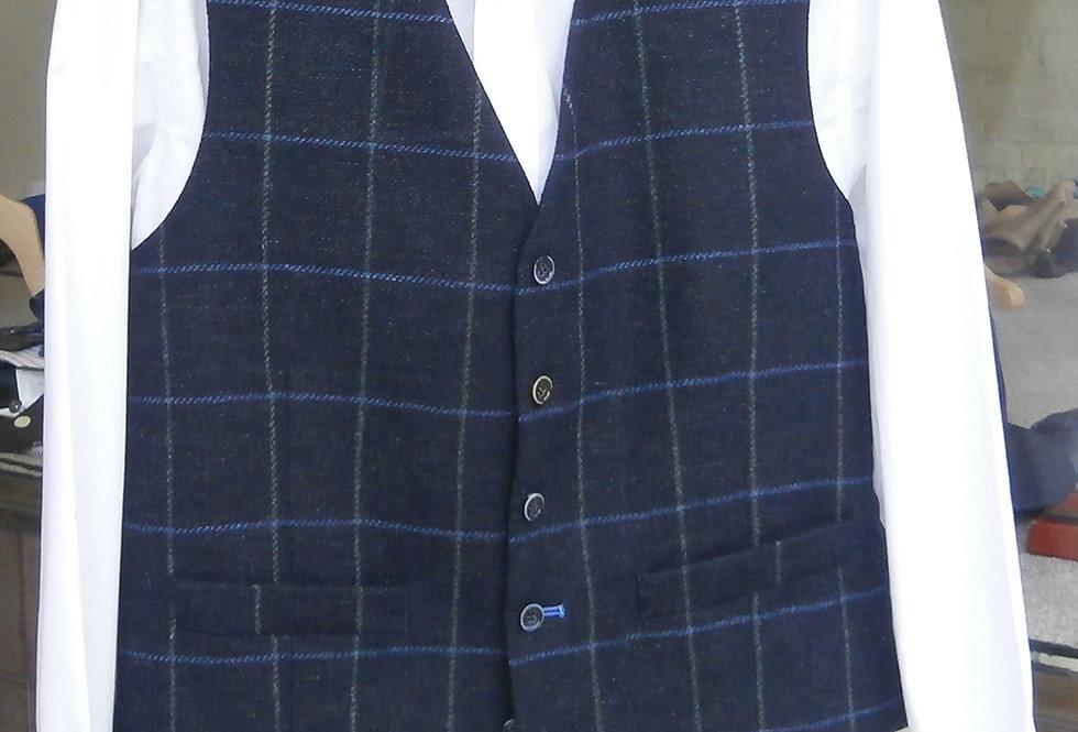 Scott Navy all Wool Waistcoat