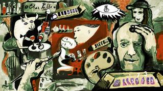 A la cubistic digital painting