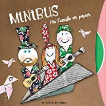 Minibus famille en papier enfants