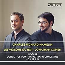 MOZART: Piano Concertos piano 22 & 24 Charles Richard-hamelin