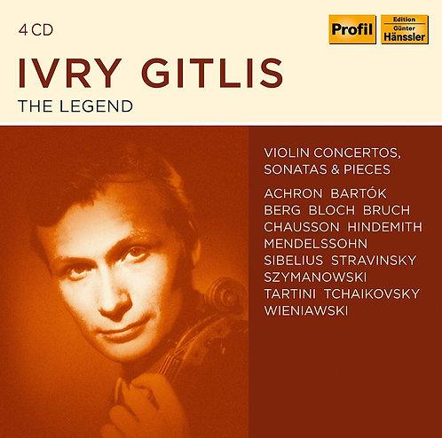 Ivry Gitlis the Legend 4 CD Concertos pour violon, sonates & pièces diverses
