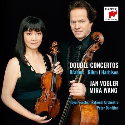 Doubles Concertos violons Mira Wang-Jan Vogler Brahms/Rhim/Harbison