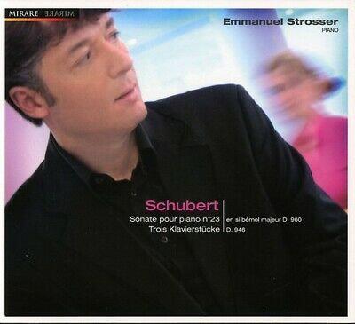 Emmanuel Strosser Schubert Sonate N°23 Trois Klavierstücke D.946 Piano