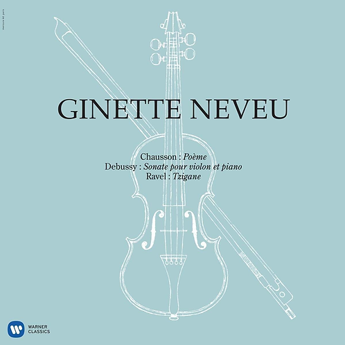 Ginette Neveu Chausson Debussy Vinyle