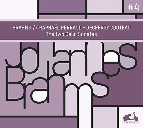 Geoffroy Couteau-Raphaël Perraud 2 cellos Sonates Brahms