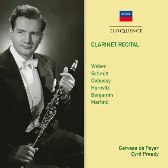 Gervase de Peyer Cyril Preedy Clarinet Recital