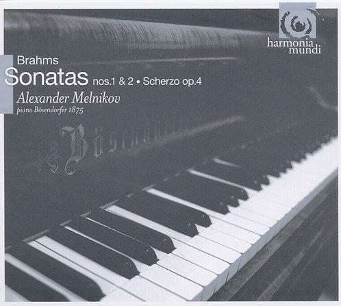 Brahms Alexander Melnikov Sonates 1 & 2, Scherzo Op.4 Piano