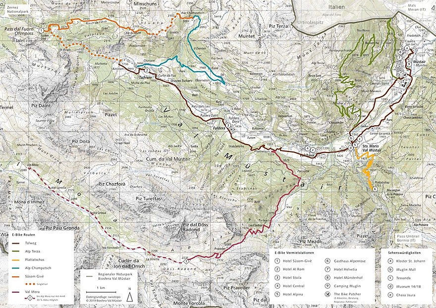 E-Bike Routen_Val Müstair