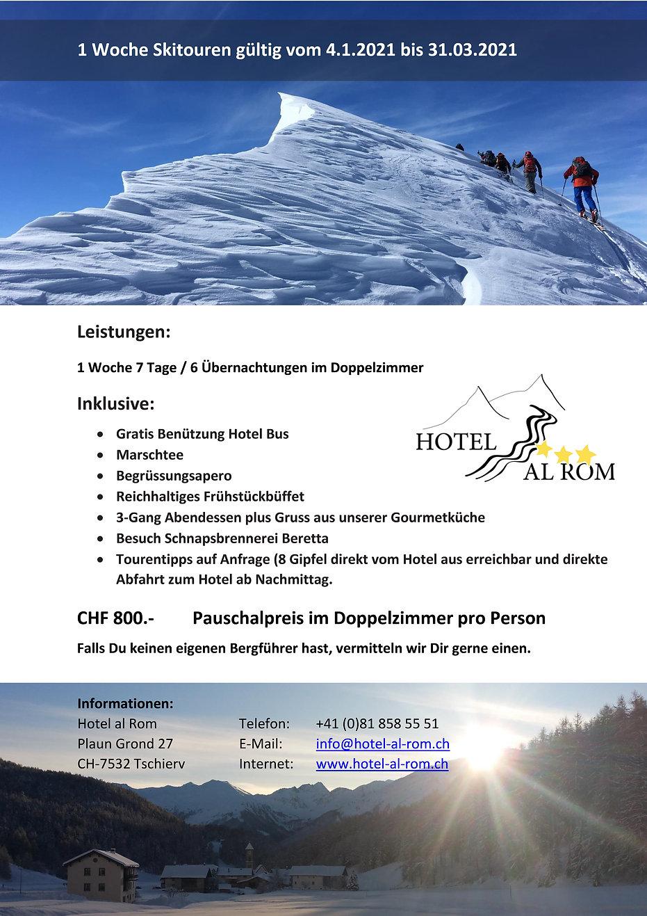 Pauschalangebot Skitouren