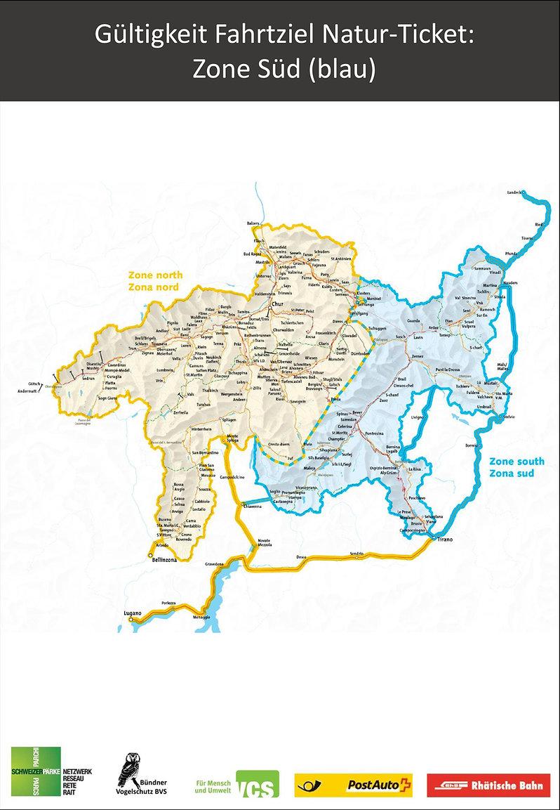 Spezialticket Zone Süd (blau)