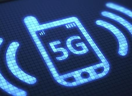 Concept van 5G-bereik in zicht