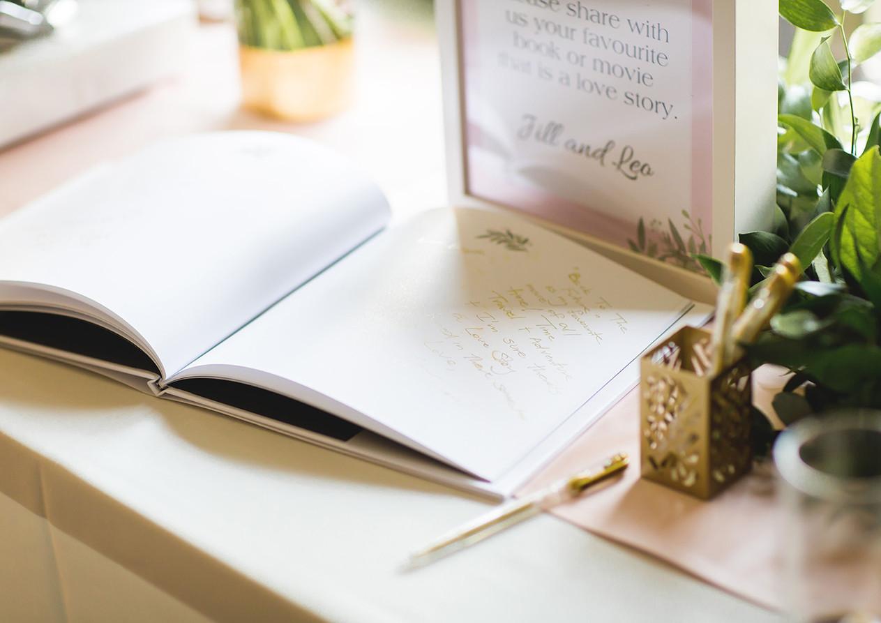 Twist Events Wedding Guest Book