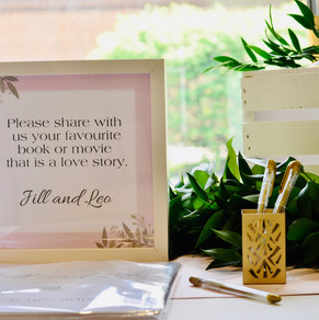 Twist Events Custom Guest Book and Sign