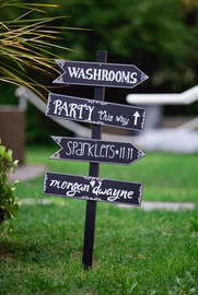 Twist Events Custom Directional Signs