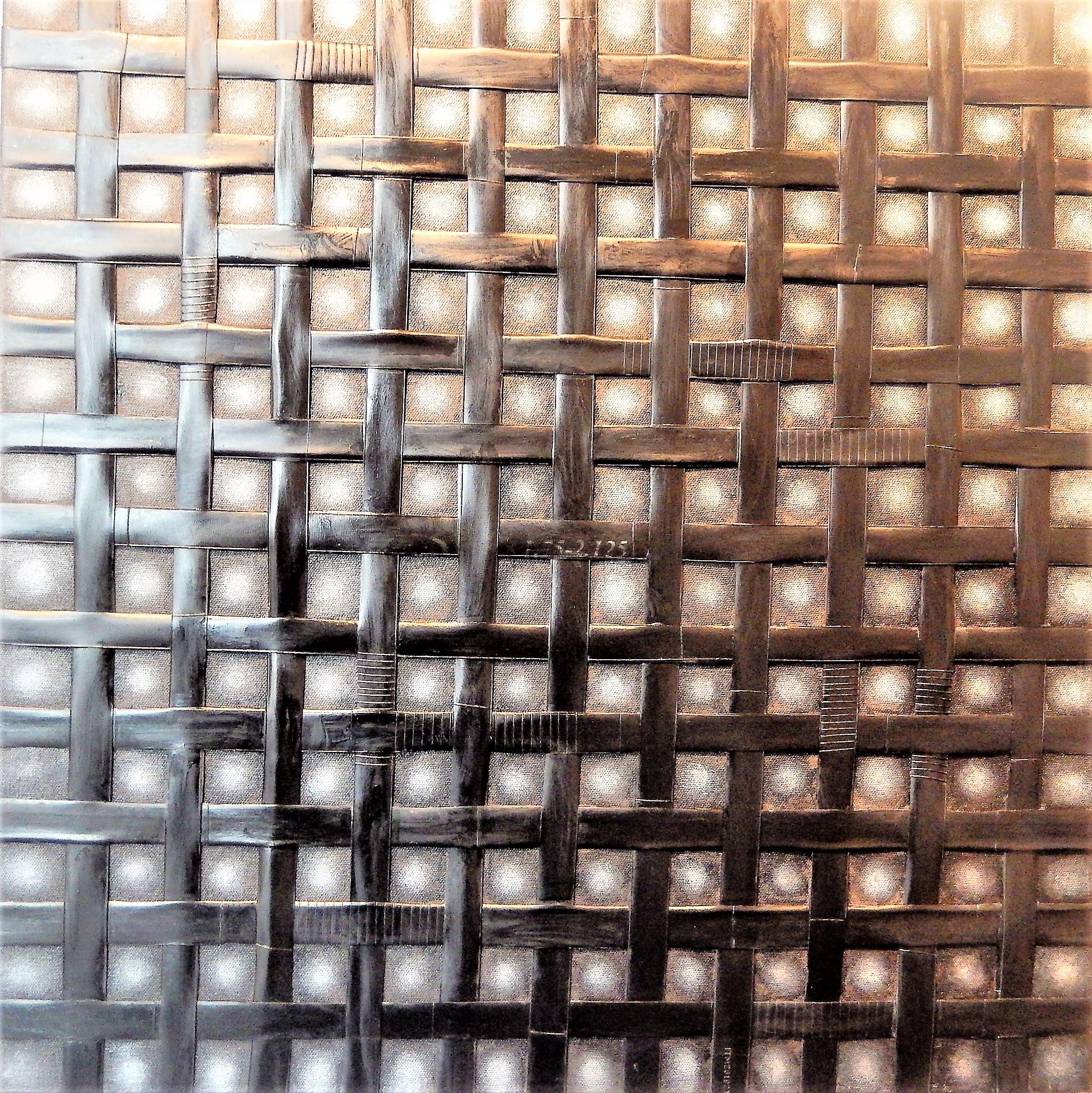 Trames,_60_X_660_cm,_chambres_à_air_sur_toile,_peinture_acrylique