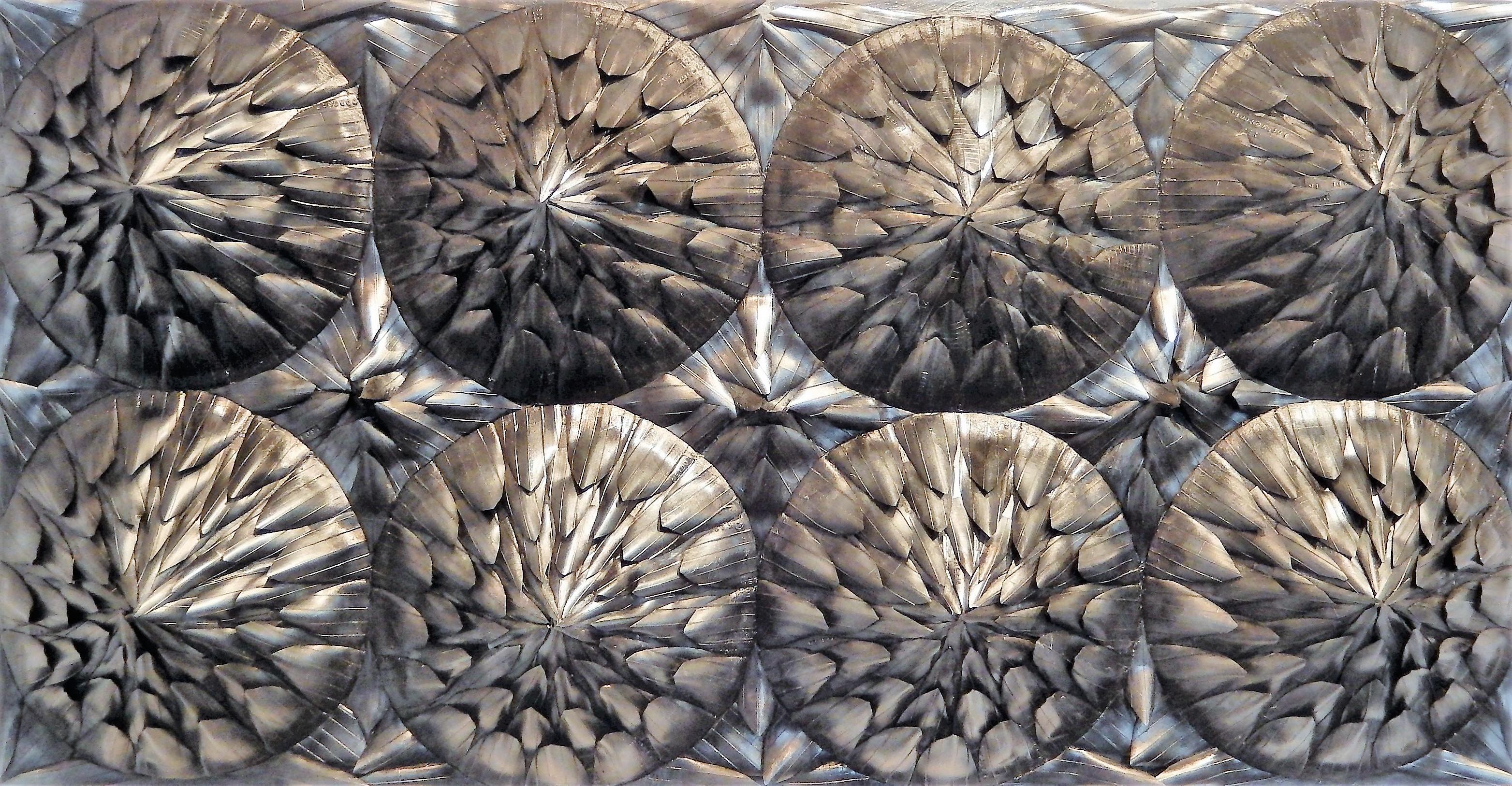 Afrique,_120_X_50_cm,_chambres_à_air_sur_polystyrène,_peinture_acrylique