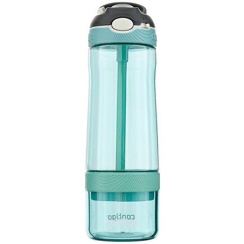 Contigo Ashland Infuser Water Bottle w/lock (Tritan) 22oz (650ml) - Grey Jade