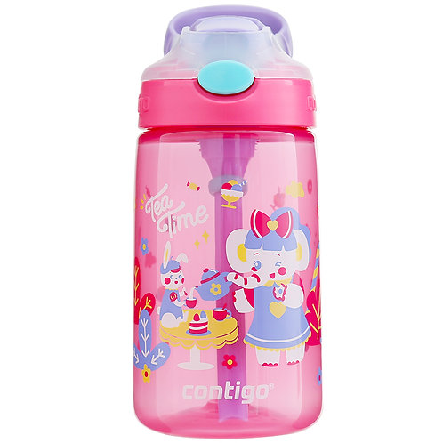 Contigo Gizmo Autospout Kids Bottle (PP) 14oz (410ml) - Tea Party