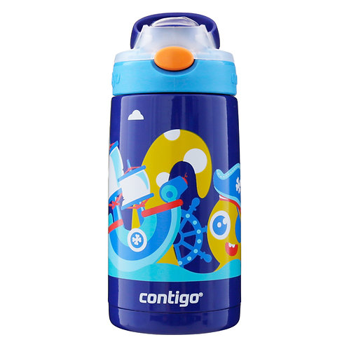 Contigo Gizmo Autospout Kids Bottle (S/S) 14oz (400ml) - Captain Octopus