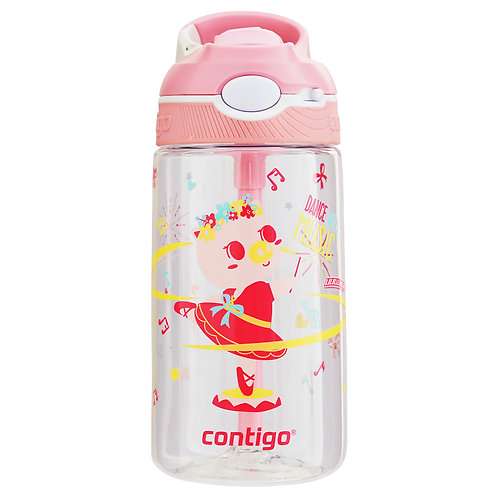Contigo Ashland Water Bottle w/lock (Tritan) 16oz (450ml) - Pig Ballet Dancer