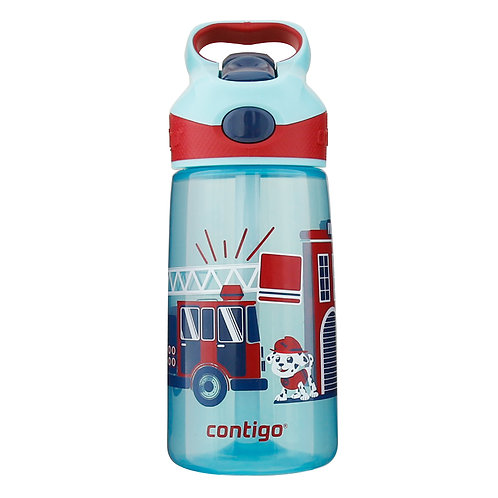 Contigo Striker Kids Bottle (PP) 14oz (410ml) - Fire Truck and Dog