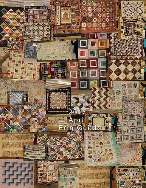Showcase of quilts made by members of the Erin Village Quilters quilting group