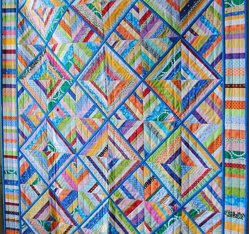 Quilt made by a member of the Erin Village Quilters group based in Erin, Ontario