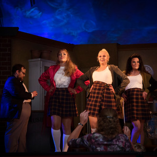 Mollie Blake, Emily Robshaw and Faye Kelbie as Ronette, Crystal and Chiffon