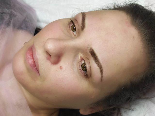 ✔Перманентный макияж бровей в технике пу
