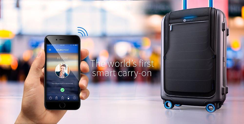 Valise connectée pour voyage d'affaires