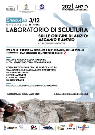 'Sulle origini di Anzio: Ascanio e Anteo', prosegue il laboratorio di scultura presso la scogliera
